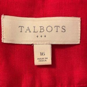 Talbots Skirts - Pretty Talbots Linen Skirt
